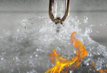 Wodę gaśniczą: cechy, reakcje urządzenia i systemy