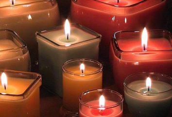 Mèches pour les bougies. bougies faites maison pour le gâteau pour la nouvelle année