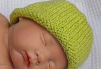 Dziecko dzianiny kapelusz z miłością i troską