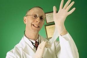 Że traktuje proctologist? Co on robi?