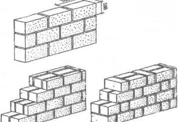 Bricklaying Ziegel in 1: Schema Fotos. Die Dicke und Breite des Ziegelmauerwerk 1