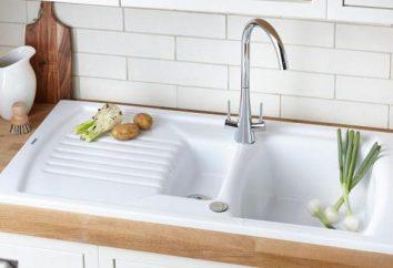 Stein Spüle Küche: Bewertungen, Vor-und Nachteile. Spülen für die Küche aus Kunststein