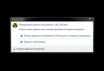 Que faire si le programme XR_ 3DA.exe ne fonctionne pas?
