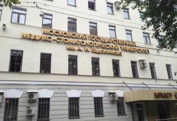 Gdzie jest MSMSU? Recenzje Moskiewskim Uniwersytecie Medycyny i Stomatologii