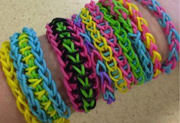 Wie weben Armbänder auf der Schleuder von Gummibändern hergestellt: Unterricht, Technik, Beratung und Bewertungen. Armbänder aus Gummi Weberei Technik Schleuder