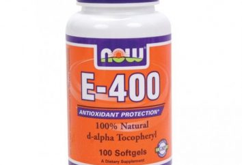 E-400 Vitamine: mode d'emploi, avis. capsules de vitamine E naturelle par NOW Foods