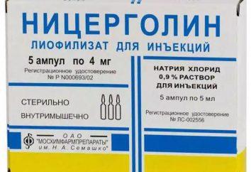 """Lek """"Nicergolina"""": opinie, instrukcje użytkowania"""