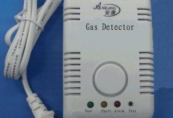 Zasilanie z alarmem wycieku gazu: rodzaje, charakterystyka