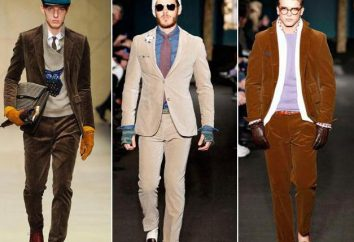 trajes de pana: estilos, lo que debe llevar? ropa práctica y de moda