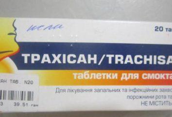 """pillole """"Trachisan"""". Istruzioni per l'uso, in particolare l'uso nei bambini"""
