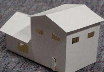 Model domu własnymi rękami: wykonanie obwodu. Jak zrobić model domu własnymi rękami?