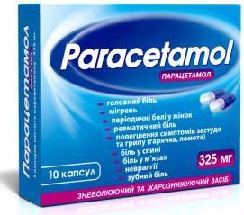 """""""Paracetamol 325"""": instrucciones de uso"""