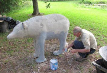 Comment faire des sculptures de jardin en béton avec leurs mains?