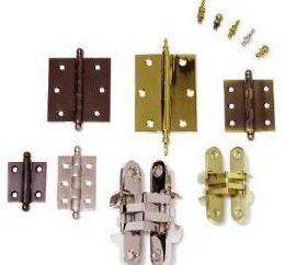 Dobradiças para portas: Tipos e Características