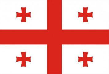 Drapeau de la Géorgie et d'autres symboles nationaux de l'Etat
