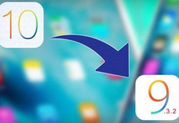 Jak cofnąć iOS 10 na 9: wskazówki, porady, instrukcje