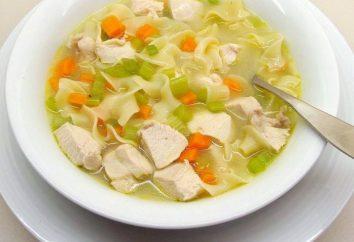 Cucinare una deliziosa zuppa con pasta e pollo