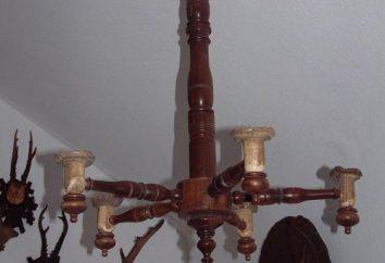 Lampadari di legno. lampadario in casa in legno