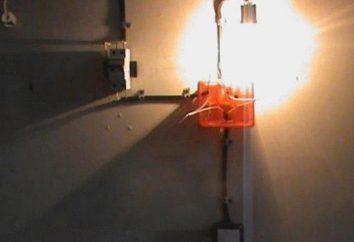 esquema de ligação do detector com tomada de um botão ou duas lâmpadas