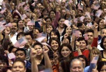 popolazione degli Stati Uniti e la storia della sua formazione