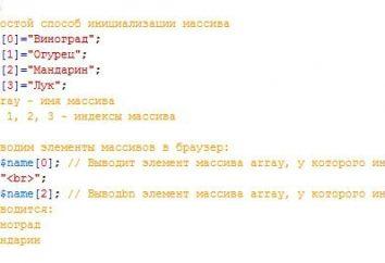 W jaki sposób PHP tablicę?