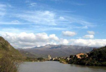 Blu arteria Georgia affluente di destra del Kura – Araks, affluenti di sinistra del Kura in sé