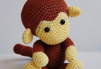 """Amigurumi-monkey """"Joni"""": opis prac, schematów i zaleceń"""