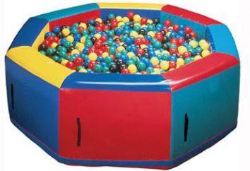 Piscine à sec avec des boules: Description et avantages. Comment faire une piscine à sec avec des balles?
