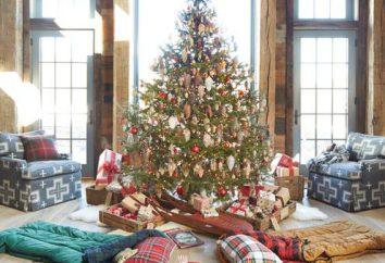 bela decoração de Natal da sala com as mãos