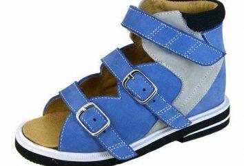 sandalias ortopédicas para niños. zapatos ortopédicos infantiles de verano
