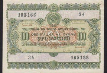 Histoire des obligations de l'Union soviétique et leur rôle dans le développement économique