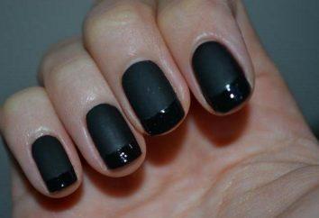Stylowe francuski manicure. Czarny kolor w projektowaniu paznokci