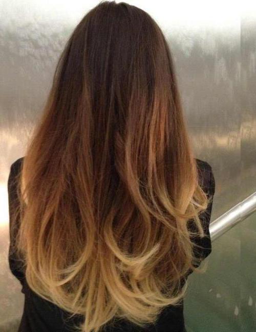 Die Farbung Ombre Haar Ubergang Von Dunkel Zu Hell
