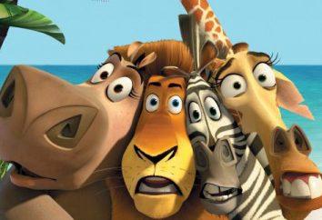 """Qual è il nome della zebra """"Madagascar"""" e gli altri personaggi principali del cartone animato?"""