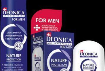 "Deonica (desodorante) comentários. Rolo de desodorante-antiperspirante. JSC ""Arnest"""