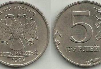 Quanto è 5 rubli del 1998? Varietà di monete e loro prezzi