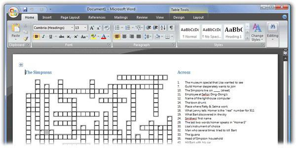 how to make a puzzle using microsoft word