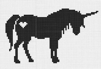 """Criar juntos: ponto-cruz """"Unicorn"""". esquemas"""