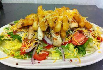 Salades avec frites – copieux et savoureux