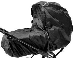 Comment choisir une poussette? Vêtement de pluie sur un chariot