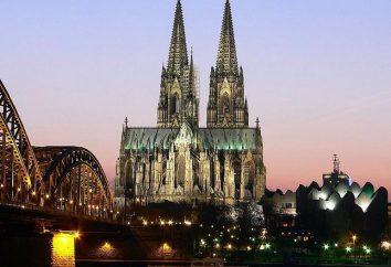 La cathédrale de Cologne en Allemagne – l'objet du Patrimoine mondial de l'UNESCO