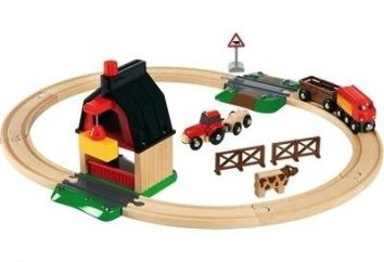 Características do caminho de ferro das crianças de madeira Brio