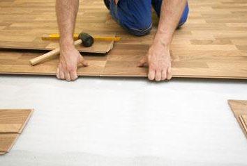 La planche de parquet: pose ses mains