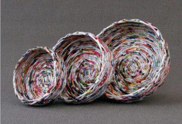 Boxen von Zeitungsrohren: Arten und Weisen des Webens