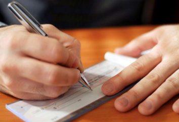 Conceito e tipos de verificação. cheques cálculos