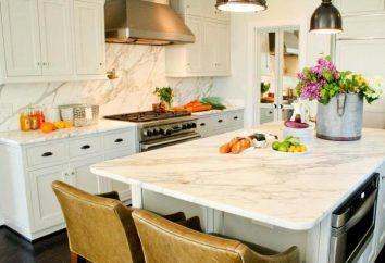 Tipos bancadas para a cozinha feito de MDF e aglomerado: descrição, foto