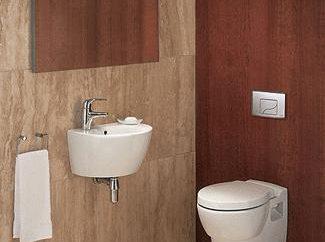 El inodoro lavabo más pequeño: el tamaño. Diseñar un pequeño aseo con lavabo