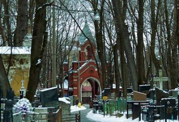 Cemitério Vvedenskoe: direções, as sepulturas de celebridades
