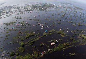 Les causes des inondations dans l'Extrême-Orient
