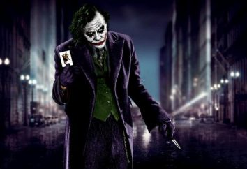 "Joker z ""The Dark Knight"". Ledzher Hit aktor"